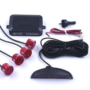 Image 5 - Araba oto parktronik LED park sensörü 4 sensörleri ile ters yedekleme araba park Radar monitör dedektörü sistemi arka işık ekran