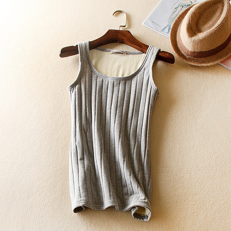 Lady O-neck warm-keeping tank top clothings women all match Basic vest black gray white brown color