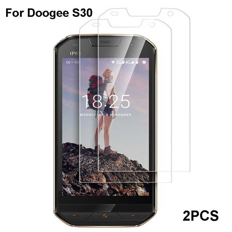 2PCS Doogee S30 Tempered Glass Transparent Protective Film Screen Protector For Doogee S 30 Glass Mobile Phone Film