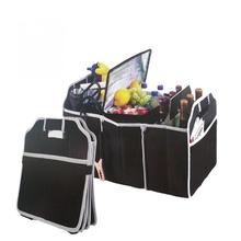 Foldable multi-purpose luggage car storage box accessories