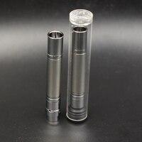 Original 5PCS Lot Mini Size Wax Dry Herb Atomizer Vape Tank 10 56mm Electronic Cigarette Battery