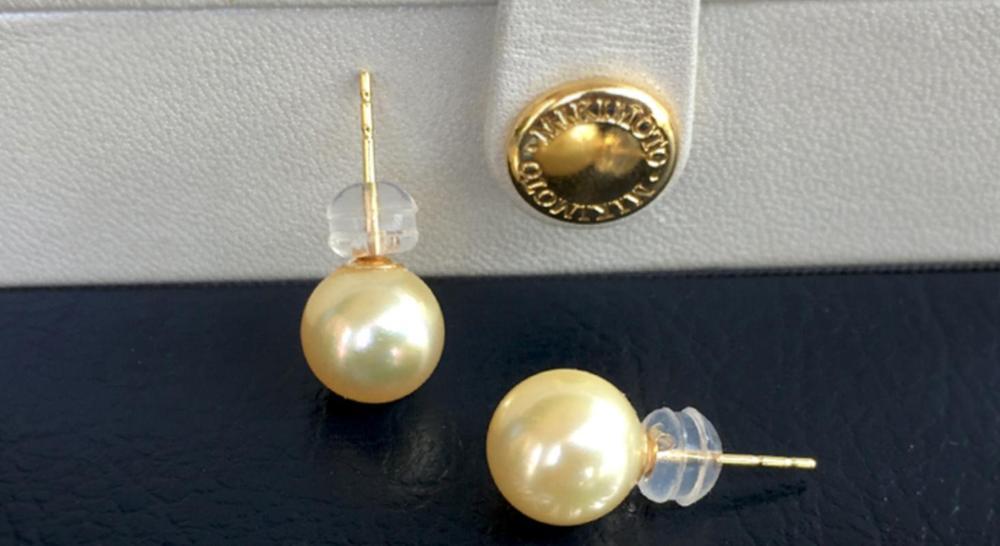 Gorgeou10-11mm mer du sud ronde or perle boucle doreille 18 kGorgeou10-11mm mer du sud ronde or perle boucle doreille 18 k