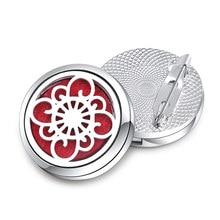 Broche en métal de haute qualité, Badge en acier inoxydable, parfum ouvert, aromathérapie, diffuseur d'huile essentielle, médaillon, bijoux