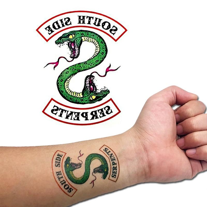 5PCS/set Riverdale Southside Tattoo Fullbody DIY Waterproof Temporary Tattoo Sticker Body Art Cosplay Prop|Costume Props|   - title=
