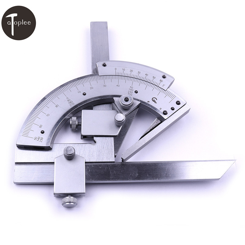 Atoplee 1PCS 320 Degree Universal Bevel Protractor With Package Angular Dial Length 150mm Caliper Measureing Tools