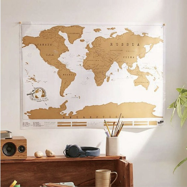 High quality big scratch map world travel tracker adventure high quality big scratch map world travel tracker adventure traveler gift scraping personalized education wall sticker gumiabroncs Choice Image