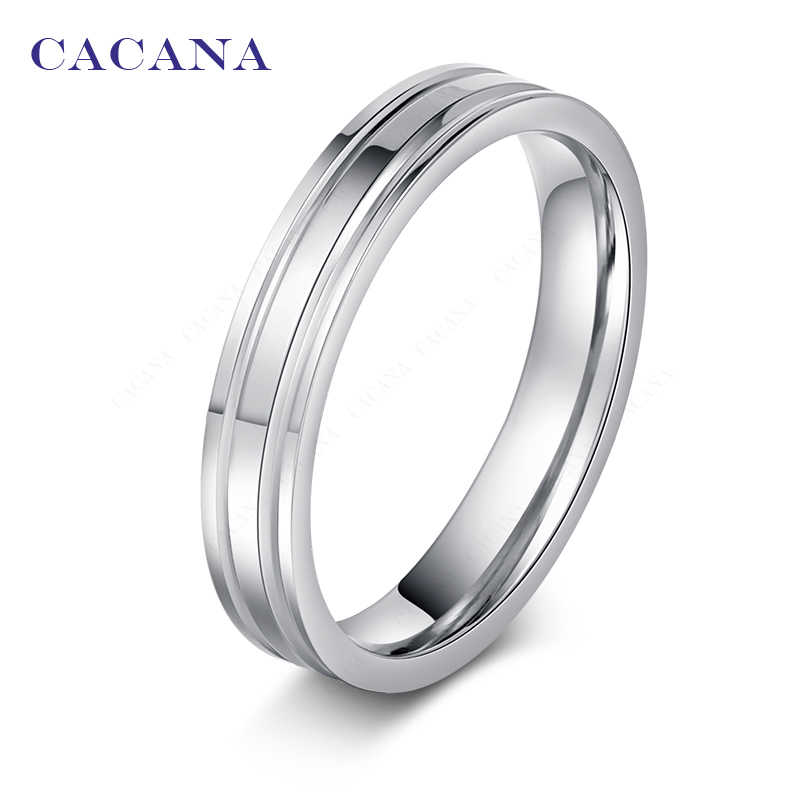 CACANA  Stainless Steel Rings For Women Mirror Shining Personalized Fashion Jewelry Wholesale NO.R24