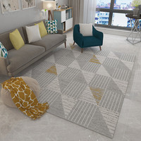 Light Gray Carpet Geometric Chart Carpets Europe Decoration Area Rugs Sofa Pad Washable Table Mats Polyester Home Decoration Rug