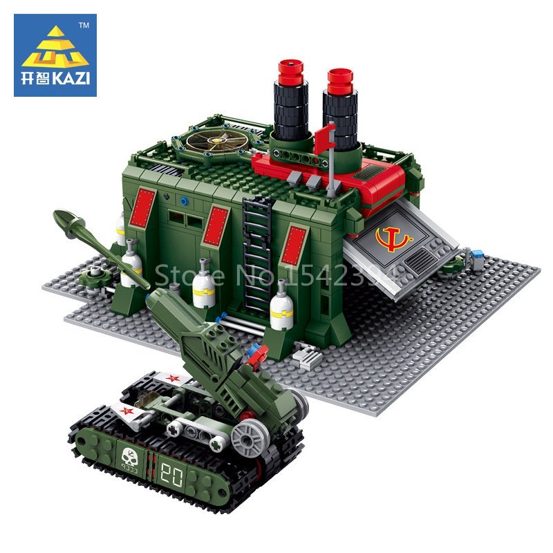 KAZI War Factory Red Alert 3 Army Tank Toy Educational Building Bricks Blocks Plastic Model Kits Set Gift Toys For Children DIY kazi building blocks k87011 608pcs pirates black pearl model building kits model toy bricks toys hobbies blocks