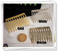 40*53MM 50PCS (Nickel/Gold/Bronze) Metal Hair Comb Claw Hairpins DIY Jewelry Findings&Components hair accessories