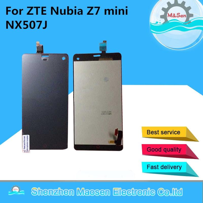 M & Sen Für ZTE Nubia Z7 mini NX507J LCD display + touch digitizer mit rahmen schwarz freies verschiffen