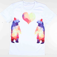 2016 New arrival unique design 3d man casual short sleeve mens cute animal t shirt bear/horse printed tshirts funny graphic tees
