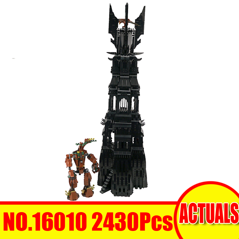 Lepin 16010 2430Pcs Lord of the Rings Model Building Kits Blocks Bricks Tower of Orthanc Toys For Children Compatible With 10237