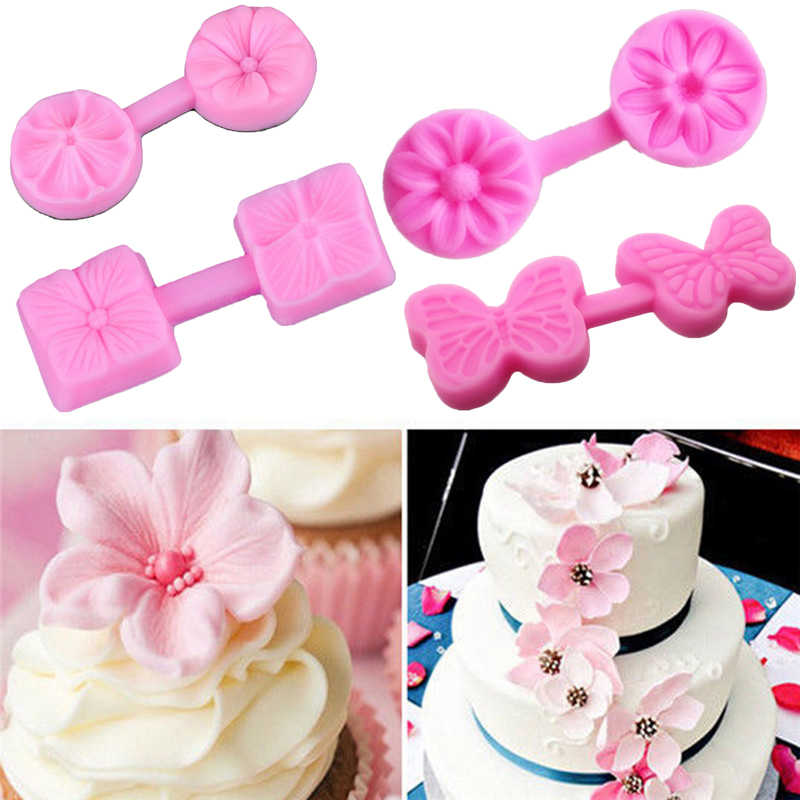 Dropship Kitchen Accessories Various Flower Petal Silicone Molds Fondant Cake Mold Chocolate Decorating Baking Mould Mold Tools