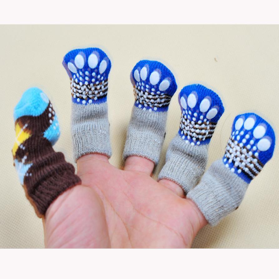 Pet Clothes Cute 4pcs Cute Puppy Dogs Pet Knits Socks Anti Slip Skid Bottom Pet Acessorios 17aug23