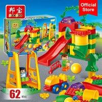 BanBao 6517 Amusement Park Slide Swing Playground Large Particles Bricks Educational Blocks Model Building Toy For Children Kids
