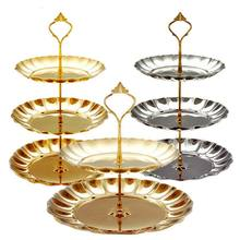 1PC High Quality Metal Material Stand Platform Stand Gold/Silver Color Fashion Wedding Party Decorating(China)