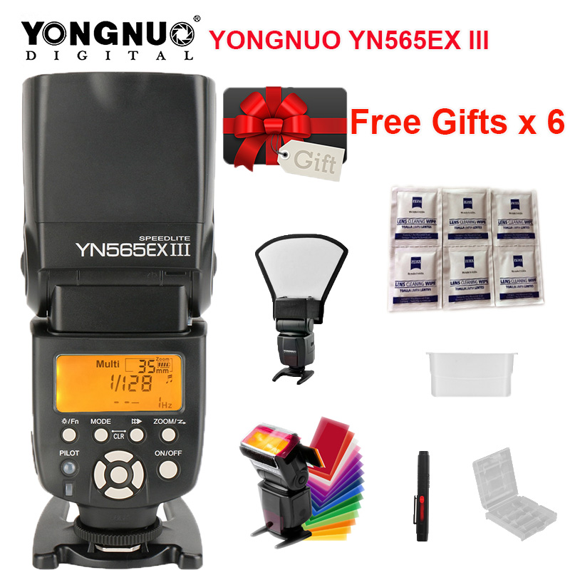 YONGNUO YN565EX III Wireless TTL Slave Flash Speedlight for Canon DSLR Camera w/GN58 High Speed Recycling System 6D 60d 650d For