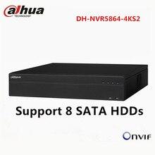 Dahua 64CH CCTV NVR NVR5864-4KS2 Network Video Recorder up to 12MP Camera 8 SATA HDD ONVIF HDMI VGA Playback Surveillance NVR