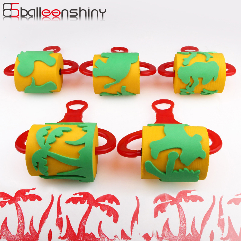 BalleenShiny 1 Pc Drawing Toys Roller Seal Sponge Brush Creative Funny Educatianal Baby Children Graffiti Doodle EVA Painting