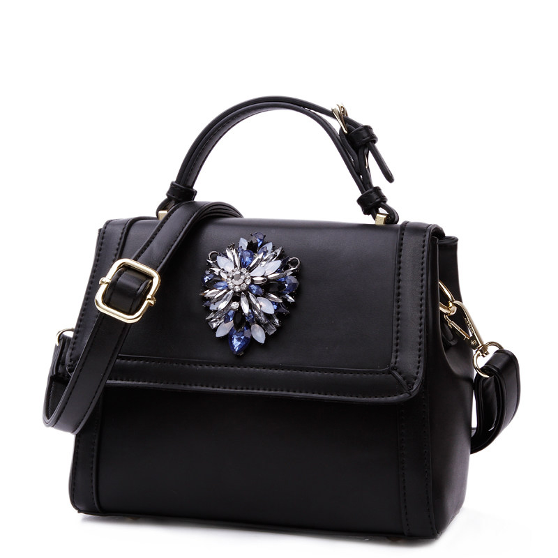 Fashion Beading Hand Bag Famous Brand Designer Women Shoulder Bag Inexpensive Classy Ladies Simple Trendy PU