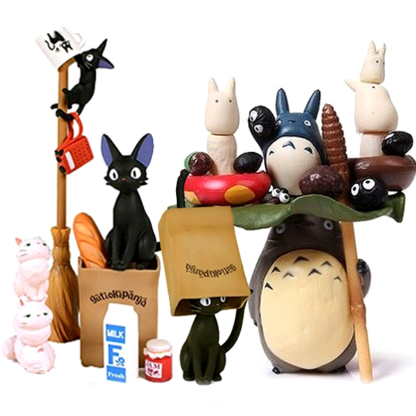 9cm-15cm 1set Miyazaki Hayao Kiki's Delivery Service/Miyazaki Hayao My Neighbor Totoro Action Figure Collectible Model Toy loz my neighbor totoro toy umbrella totoro model action figure diamond building blocks original box 14 gift 9509