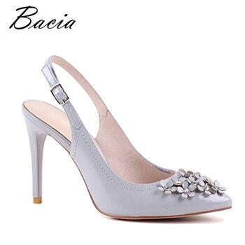 Bacia Women Genuine Leather Sandals Fashion Women Thin Heel Sandals Gril Summer Shoes Ladies Sandals Girls Floral Shoes VXA004 sandal