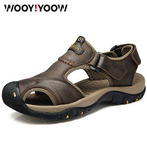WOOY!YOOW 2019 Men's Sandals Male Beach Shoes