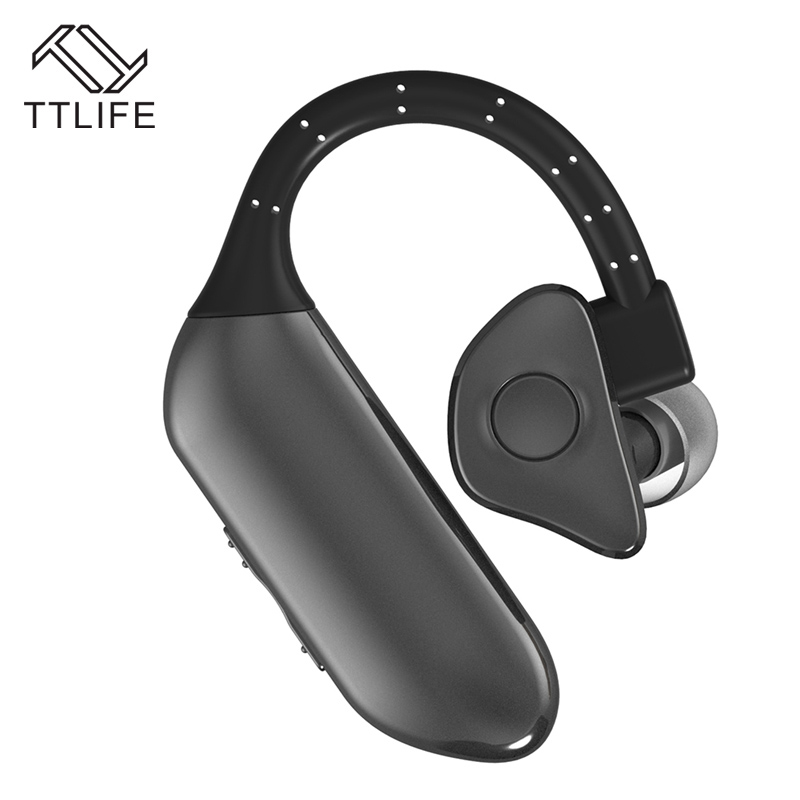 TTLIFE New Wireless Bluetooth 4.0 Stereo Earphone Fashion Business Single Ear Earbuds Sports Music Earpiece with Micr For xiaomi ttlife bluetooth earphone