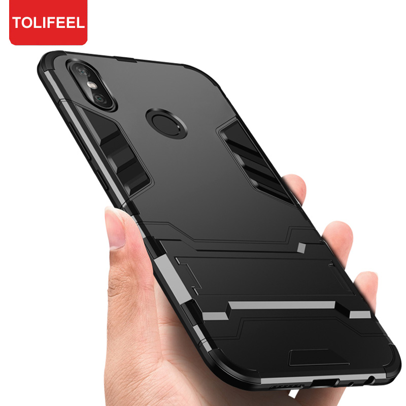 9a8df9b4978 For Xiaomi Redmi Note 5 Pro Armor Case Robot Hard Silicone Rubber Hard Back  Phone Cover For Redmi Note5 Pro Stand Cases