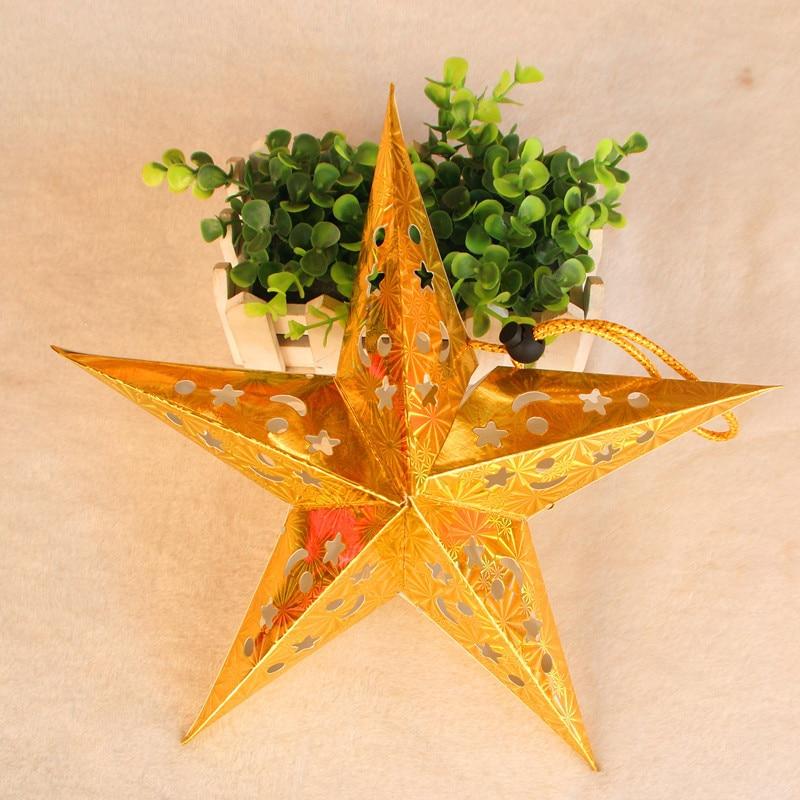 1PC 30cm-45cm-60cm glänsande stjärna Papper lampskärm lykta blomma - Semester och fester - Foto 6
