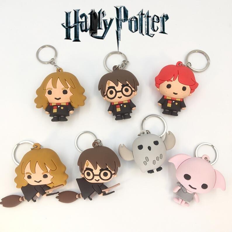 Harri Potter Game of Thrones Keychain Hermione Granger Lord Voldemort Mini toy Figure Deadpool Captain America