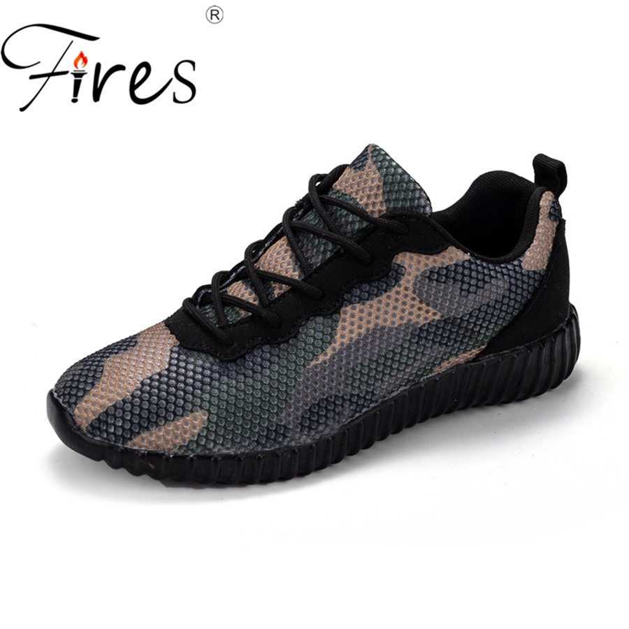 Fires Women Sports Shoes Big Size Outdoor Breathable Brand Sneakers Sport Zapatilla Flat Shoes Girl Camouflage Training Shoes