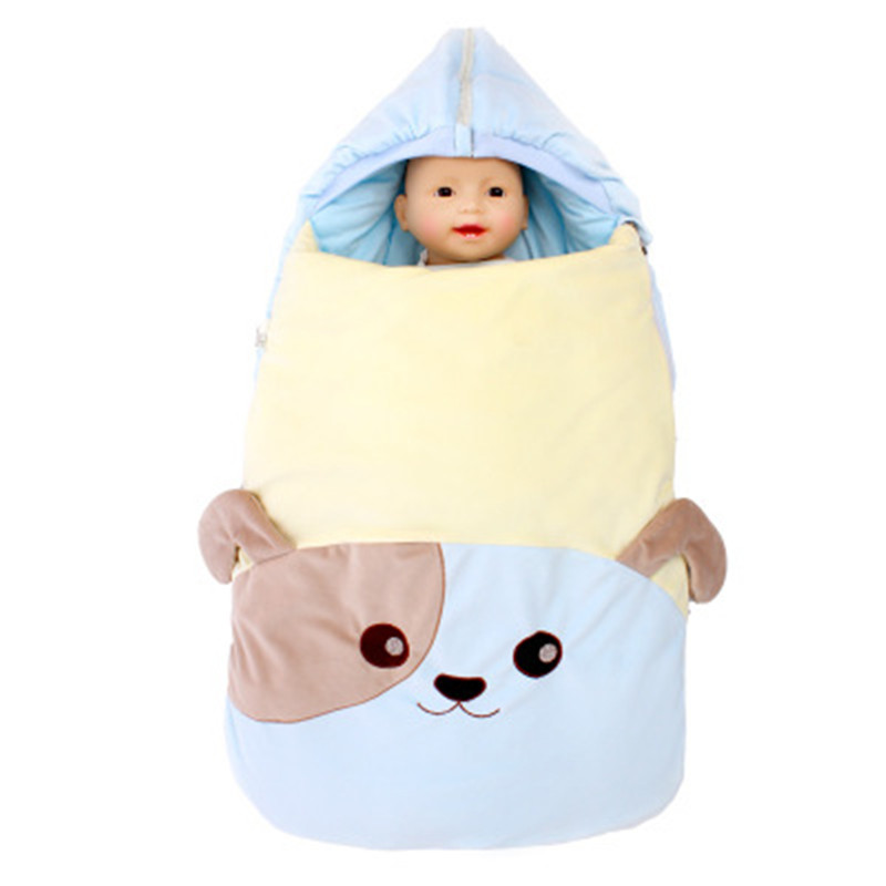Winter Thickening Sleeping Bags Anti-startle Baby Envelope For Stroller Newborn Baby With Glove Dual-use Windproof