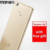 Xiaomi Redmi 4X Case Silicon Cover MOFi Original Redmi 4X Pro Prime Case Cover TPU Soft