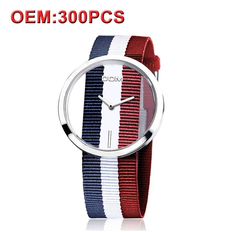 DOM Montres femmes top marque de luxe décontracté En Cuir Quartz montre femme Horloge fille robe-bracelet relogio montre femme saati LP-205