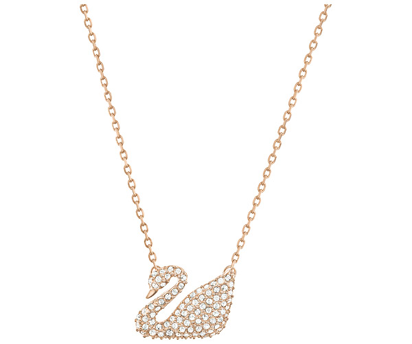 FANSER Swan Pendant Necklace Three color Fashion Classic Swarov Womens Link chain Necklace Has Logo Free Mail Trendy