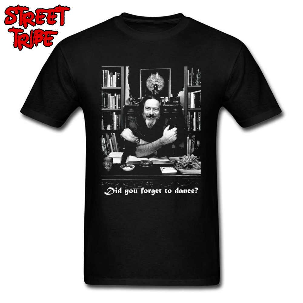4ae20d9d6 Classic Men T Shirt Alan Watts T-shirts for Students 100% Cotton 80s Black  Tops Tees Character Sweatshirts Sale Crew Neck Tshirt
