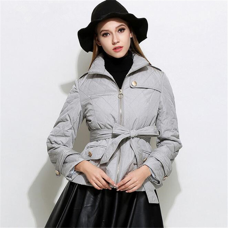 2017 New Autumn Winter Women Parka Coat Brand Fashion Down Jacket Women Slim Elegant Lady Coats Parka Jackets Parkas  A3383