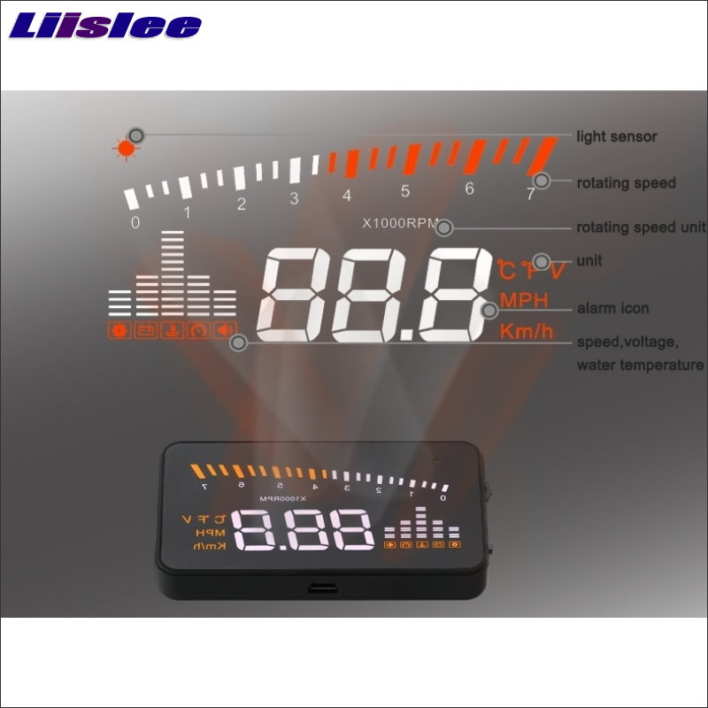 Liislee For BMW X5 E53 E70 X6 E71 Car HUD Safe Drive Display Refkecting Windshield Head Up Display Screen Projector in Head up Display from Automobiles Motorcycles