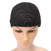 1pcs Cornrow Wig Cap For Making Wigs Adjustable Black Color Crochet Braided Weaving Cap Lace Elasti Hairnet Hair Styling Tool