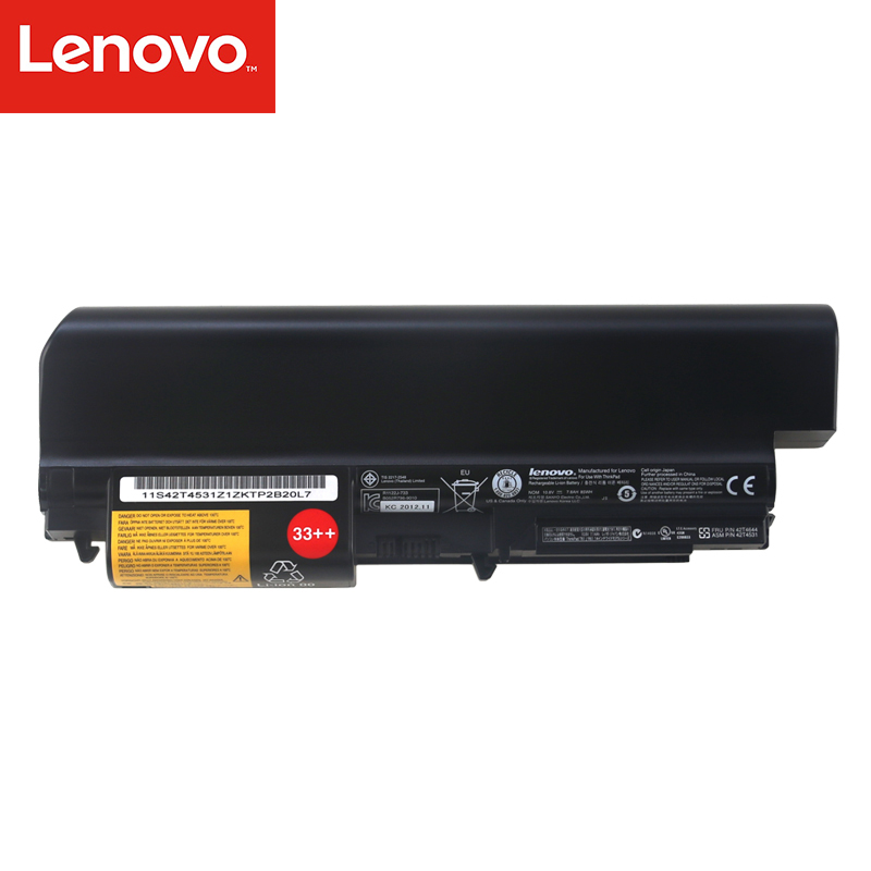 Original Laptop battery For Lenovo ThinkPad T400 R400 R500 R61 R61I 9 core High capacity 14 8v 46wh new original laptop battery for lenovo thinkpad x1c carbon 45n1070 45n1071 3444 3448 3460