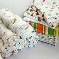 Newborn Muslin Baby Cartoon Swaddling Blanket Newborn Infant Cotton Autumn/Winter Warm Swaddle Towel