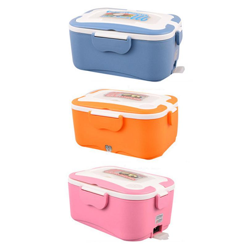 12V/24V Electric Car Heat Insulation Thermo Lunch Box Charging Hot Rice Cooker Multi Functional Plug Plastic Box for Truck Car