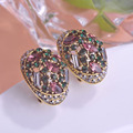 Vintage Design Statement Stud Earrings For Women Zirconia Small Earring Exquisite Brinco Birthday Gift Boucle d'oreille Femme Uk