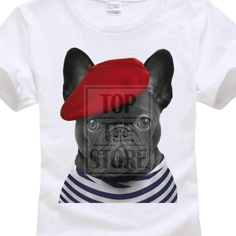 Женская Классическая Досуг Harajuku футболка Frenchie футболка Французский бульдог футболка Симпатичные Париж Chien Город любви топ животных