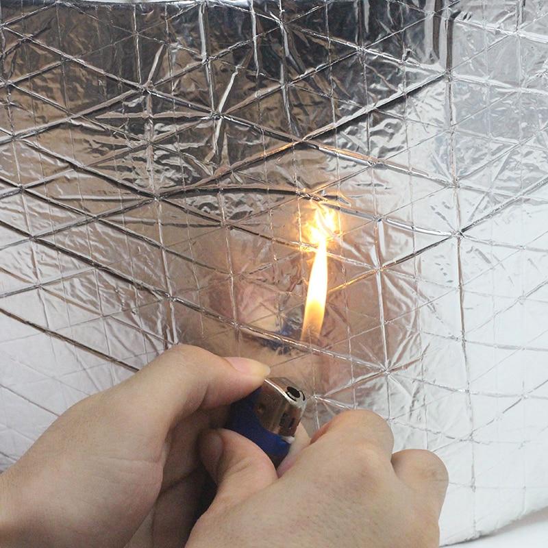 Cawanerl 2sqm pare-feu de voiture porte de toit bouclier thermique isolation phonique tapis de preuve feuille d'aluminium Deadener Deadener 200 CM X 100 CM - 4