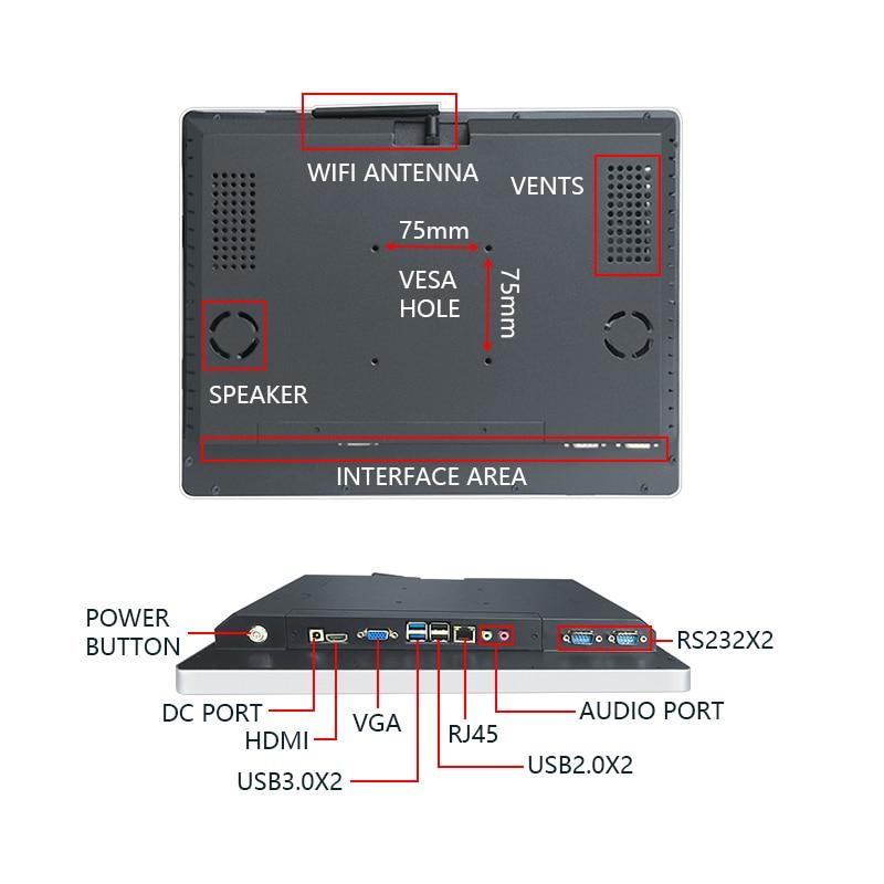 17 дюймов 1920*1080 HD i7 сенсорный экран рабочего портативный компьютер