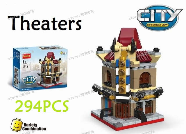 Online Shop 6 In 1 Model Building Kit Compatible With Lego City Mini