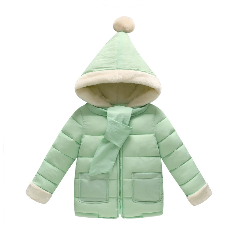 Baby Girls Boys 2017 Winter Coat Girl Kids Children Thick Warm Cotton Padded Hoodies Coats snowsuit Overcoat Clothes W105 2017 winter baby coat kids warm cotton outerwear coats baby clothes infants children outdoors sleeping bag zl910